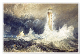 Poster Premium  Faro di Bell Rock - Joseph Mallord William Turner