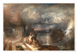 Poster Premium Joseph Mallord William Turner Paintings The Parting of Hero and Leander