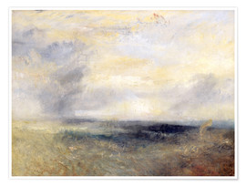 Poster Premium  Margate vista dal mare - Joseph Mallord William Turner