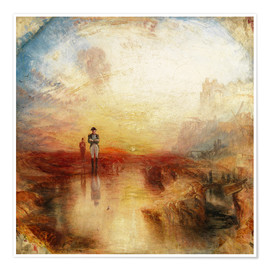 Poster Premium  joseph mallord william turner war the exile and the rock limpet 1842 trivium art history - Joseph Mallord William Turner