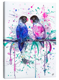 Stampa su tela  Love is in the air! Lovebirds - Zaira Dzhaubaeva