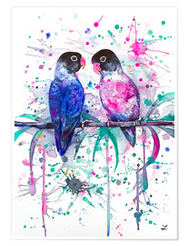 Poster Premium  Love is in the air! Lovebirds - Zaira Dzhaubaeva