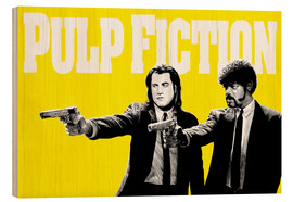 Stampa su legno  Pulp Fiction Yellow BANG - Paola Morpheus