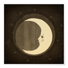 Poster Premium Moon in the night