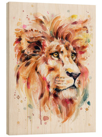 Stampa su legno  All Things Majestic (Lion) - Sillier Than Sally