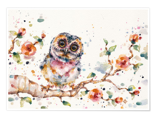 Poster Premium Yep Cute Is My Middle Name (baby Owl)