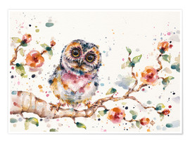 Poster Premium  Yep Cute Is My Middle Name (baby Owl) - Sillier Than Sally