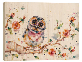 Stampa su legno  Yep Cute Is My Middle Name (baby Owl) - Sillier Than Sally