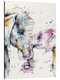 Alluminio Dibond  That Type Of Love (elephants) - Sillier Than Sally