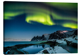 Stampa su tela  Aurora Borealis above the island of Senja (Northern Norway) - Sascha Kilmer