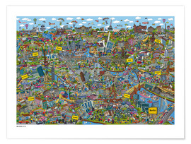 Poster Premium  Berlino - Cartoon City