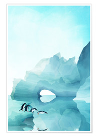 Poster Premium  Penguins by day - Goed Blauw