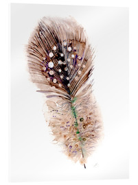 Stampa su vetro acrilico  Feather brown - Verbrugge Watercolor