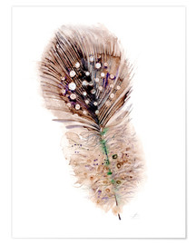 Poster Feather brown
