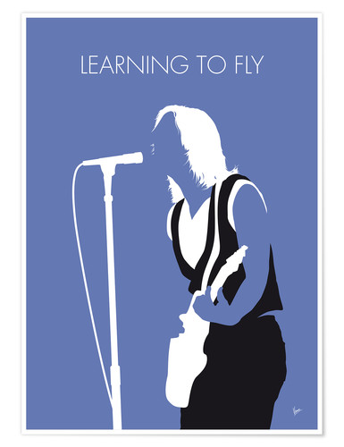 Poster Premium Tom Petty - Learning To Fly