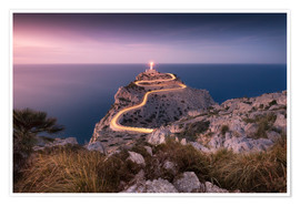 Poster Premium Evening light at Cap Formentor (Mallorca / Spain)