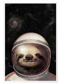 Poster Premium  Space Sloth - Eric Fan
