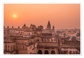 Poster Premium Orchha city at sunset, India