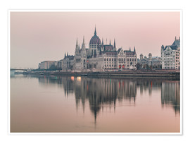 Poster Premium  Colourful sunrises in Budapest - Mike Clegg Photography