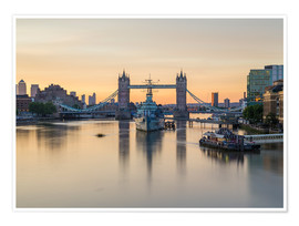Poster Premium  Colourful sunrises in London - Mike Clegg Photography