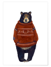 Poster  Sig. Orso nel suo maglione norvegese - Kidz Collection