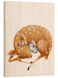 Legno  Fawn and baby bunny - Kidz Collection
