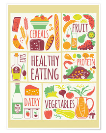Poster Premium To eat healthy food