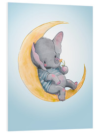 Stampa su schiuma dura  Elephant in the moon - Kidz Collection