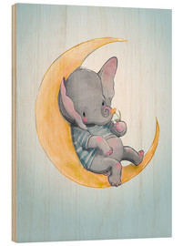 Stampa su legno  Elephant in the moon - Kidz Collection
