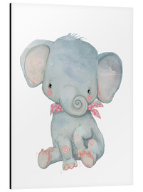 Stampa su alluminio  My little elephant - Kidz Collection