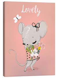 Tela  Little mouse on pink - Kidz Collection