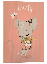 Legno  Little mouse on pink - Kidz Collection