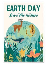 Poster Premium  Save the nature - Kidz Collection