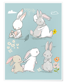 Poster  Bunny friendship - Kidz Collection