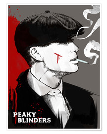 Poster Premium  Peaky blinders, Tommy Shelby  - 2ToastDesign