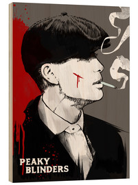 Legno  Peaky blinders, Tommy Shelby  - 2ToastDesign