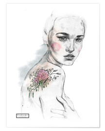 Poster Premium  flower tattoo print - Teetonka