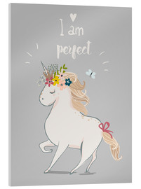 Stampa su vetro acrilico  Perfect little unicorn - Kidz Collection