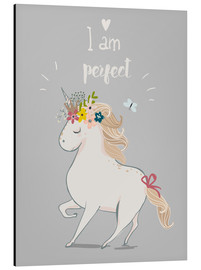Alluminio Dibond  Perfect little unicorn - Kidz Collection