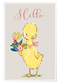 Poster Premium  Hello duckling - Kidz Collection