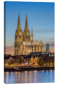 Stampa su tela  The Cologne Cathedral in the evening - Michael Valjak