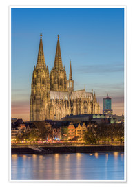 Poster Premium  The Cologne Cathedral in the evening - Michael Valjak