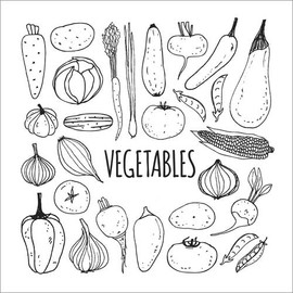Poster da colorare Vegetables