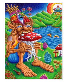 Poster Premium  Muncher Of Mushroomland - Chris Dyer