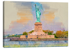 Stampa su tela  New York Statue of Liberty - Peter Roder
