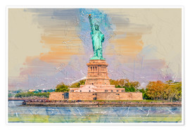 Poster Premium  New York Statue of Liberty - Peter Roder