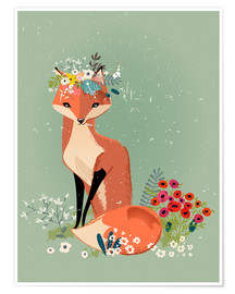 Poster Premium  Fox in the spring - Kidz Collection