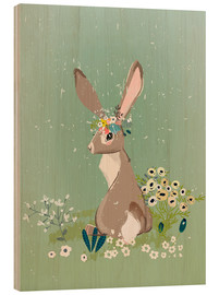 Legno  Rabbit with wildflowers - Kidz Collection