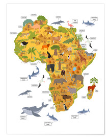 Poster Premium  Animali africani (inglese) - Kidz Collection