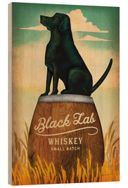 Stampa su legno  Black Lab Whisky - Ryan Fowler